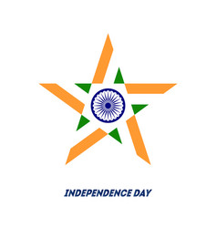 indian independence day concept with ashoka wheel vector image