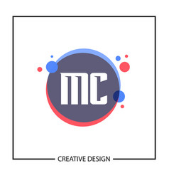 Initial letter mc logo template design vector