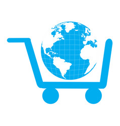 Isolated shopping cart vector