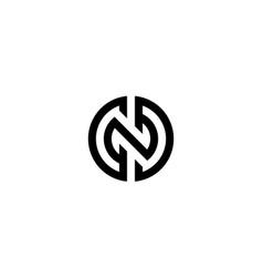 Letter c n d logo design concept vector