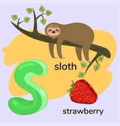 letter s child alphabet graphics vector image