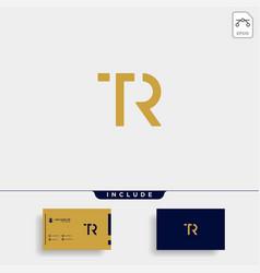 Letter tr rt t r logo design simple vector