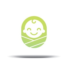 Logo design baby cheerful joyful kid vector image