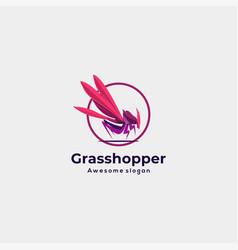 logo grasshopper colorful style vector image