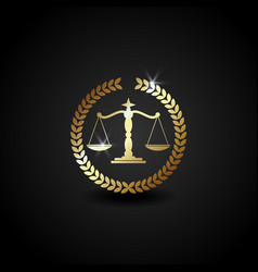 Luxury logo scale for law firm office perfect for vector