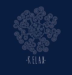 Mandala Relax vector image