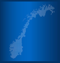 map of norway with circle dot vector image