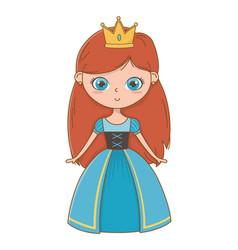 Medieval princess cartoon design vector