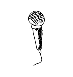 Microphone drawing icon image vector