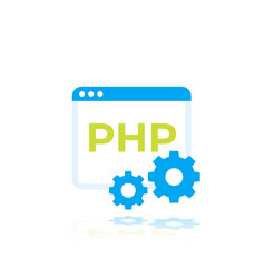 Php icon flat art vector