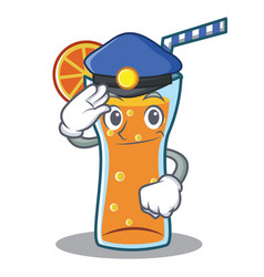 police cocktail character cartoon style vector image