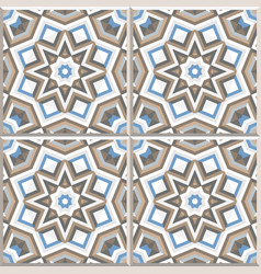 portuguese floor tiles design seamless pattern vector image