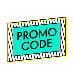 Promotional code advertising special offer e vector