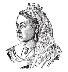Queen victoria of england vintage vector