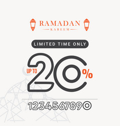 Ramadan sale discount up to 20 limited time only vector