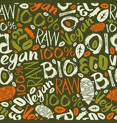 Raw vegan seamless pattern vector image
