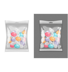 realistic candy package set vector image