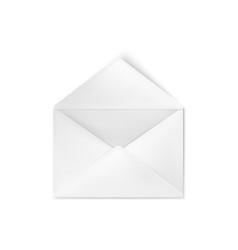 realistic empty open white envelope vector image
