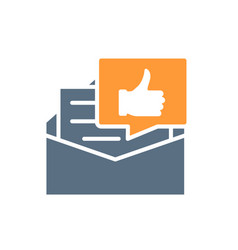 Recommendation letter colored icon letter with vector