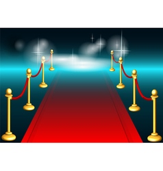 red carpet and light vector image