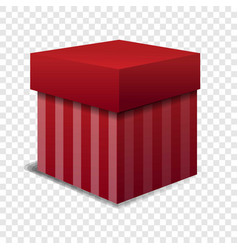 red gift box icon cartoon style vector image