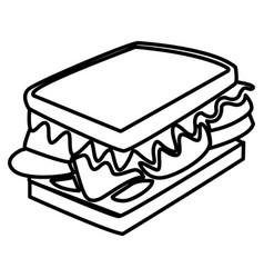 sandwich delicious food vector image