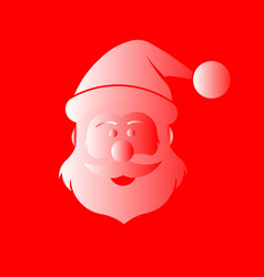 santa claus in red and white vector image