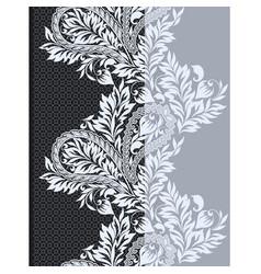 seamless black and white lace border vector image