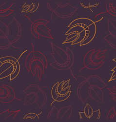 seamless pattern with leaf perfect vector image