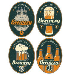 Set of labels or banners for beer and brewery vector