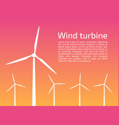 Silhouettes wind turbines vector