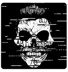 skull a mark danger warning t-shirt vector image