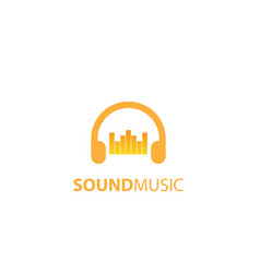 sound music logo design vector image