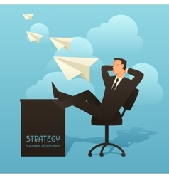 Strategy business conceptual with vector image