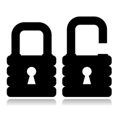 Strong padlock silhouette vector