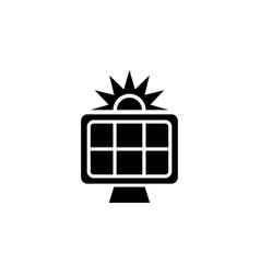 sun panel solar energy flat icon vector image