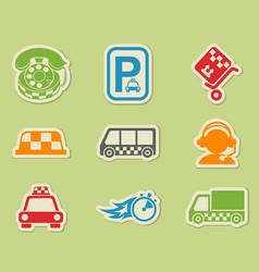 Taxi services icon set vector