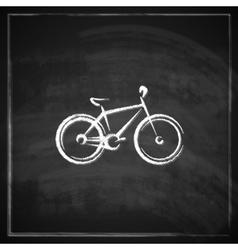 vintage with a bike on blackboard background vector image