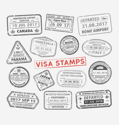 visa passport stamp vector image