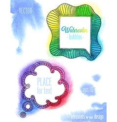 watercolor ink bubbles1 vector image