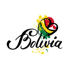 welcome to bolivia card vector image