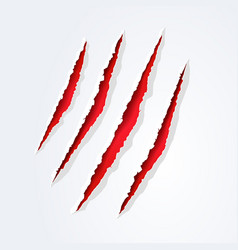 Wild animal monster claws scratches vector