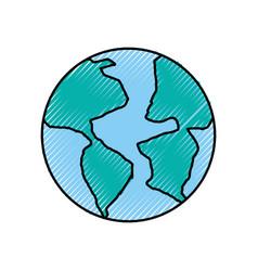 World planet earth icon vector