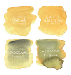 Yellow abstract watercolor background vector