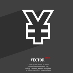 Yen JPY icon symbol Flat modern web design with vector image