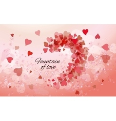 Beautiful pink background with hearts vector image vector image