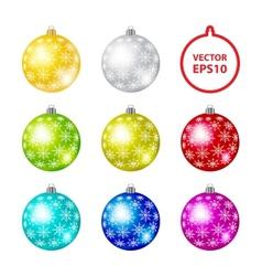 Color Christmas Balls vector image vector image
