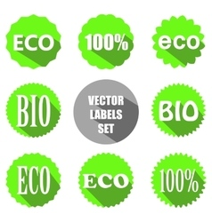 flat eco labels set vector image