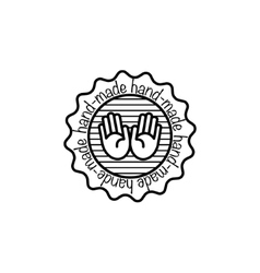 hand-made badges vector image vector image