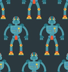 Robot seamless pattern Background of technological vector image